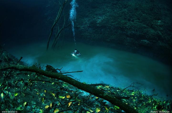 Подводная река Мексики