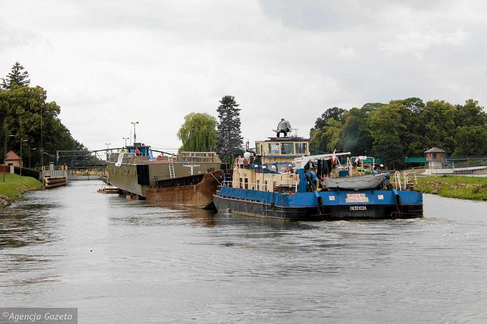 Перевозка грузов на реке Одра