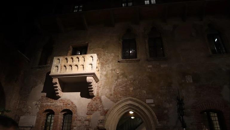 Балкон, на котором Джульетта ожидала ромео
